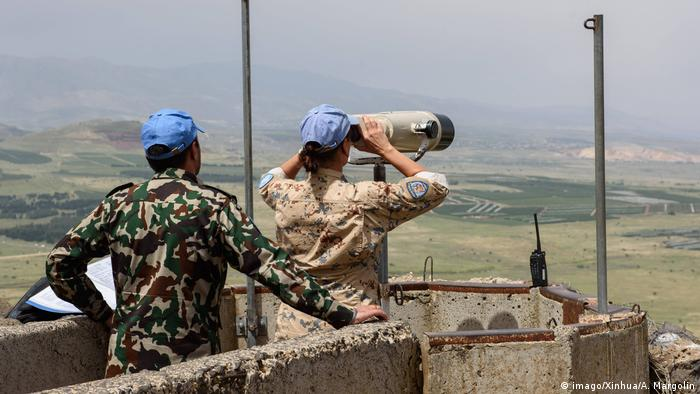 UN monitors Golan Heights