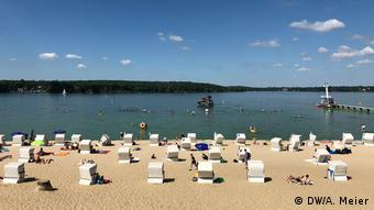Beach at Wannsee in Berlin, Germany