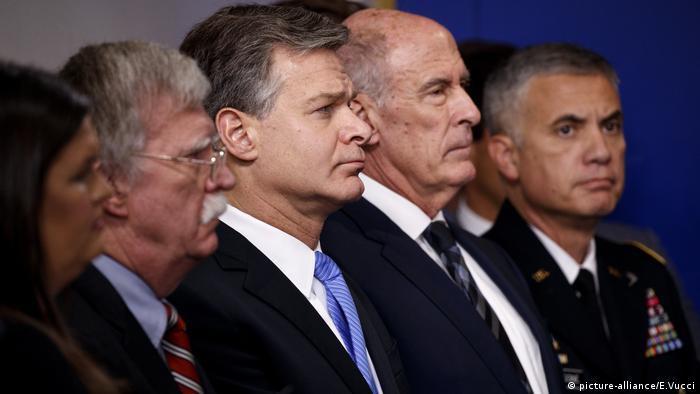 Christopher Wray, Sarah Huckabee Sanders, John Bolton, Paul Nakasone