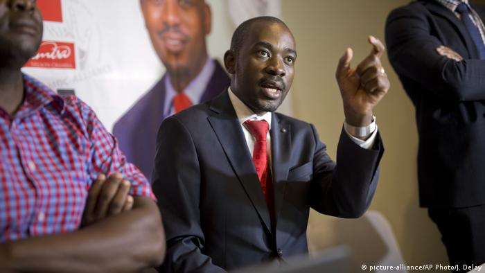 Simbabwe Wahl | Nelson Chamisa, Opposition - MDC (picture-alliance/AP Photo/J. Delay)