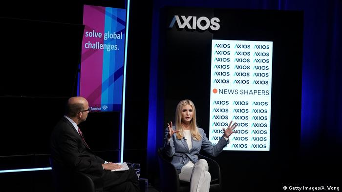 USA Newseum in Washington - Ivanka Trump bei Axios360 News Shapers (Getty Images/A. Wong)