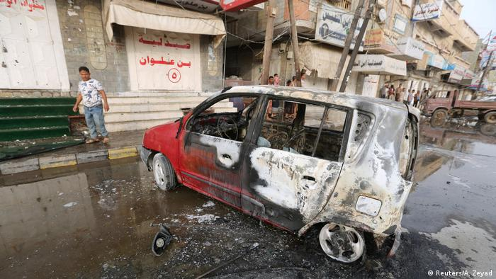 Damage following the strike in Hodeidah