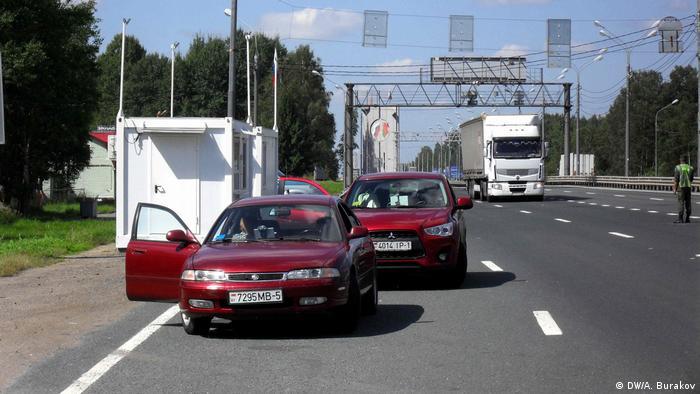 Блокпост пограничников в Красном