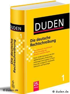 La última edición de Duden.