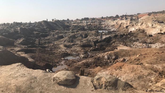 Blick in den Tagebau im Kipushi