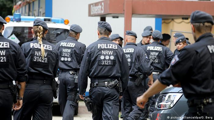 German police patrol in Cologne in 2018