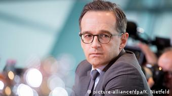Heiko Maas looking pensive (picture-alliance/dpa/K. Nietfeld)
