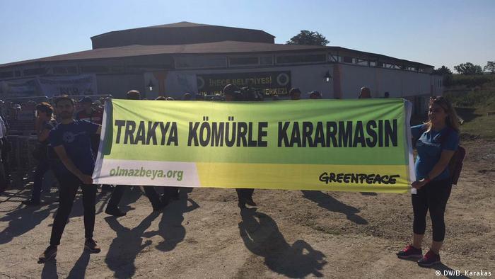 Trakya'da bir protesto gösterisi (Arşiv)