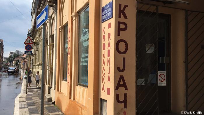 Schrift in Serbien - Lateinisch und Kyrilisch, Novi Sad