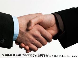 Рукопожатие: заставочный снимок