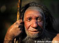 Réplica de un Hombre de Neandertal (museo de Mettmann).