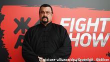 5515575 30.05.2018 Steven Seagal, actor, President of Zhara Fight, promotion campaign ahead of ZHARA Fight Show in Moscow. Ramil Sitdikov / Sputnik Foto: Ramil Sitdikov/Sputnik/dpa  