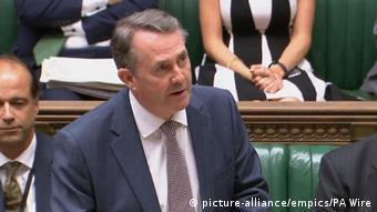 Ο βρετανός υπουργός Διεθνούς Εμπορίου Λίαμ Φοξ