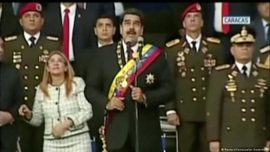 Venezuela Attentat auf Präsident Maduro (Videostill)