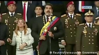 Venezuela Attentat auf Präsident Maduro (Videostill) (Reuters/Venezuelan Goverment)