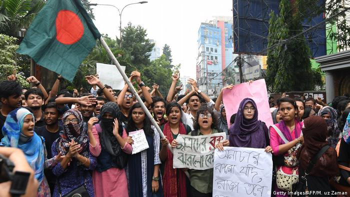 Bangladesch Proteste von Studenten in Dhaka (Getty Images/AFP/M. uz Zaman)