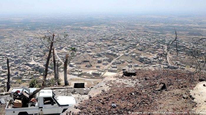 Стратегические позиции сирийской армиии на юго-западе страны