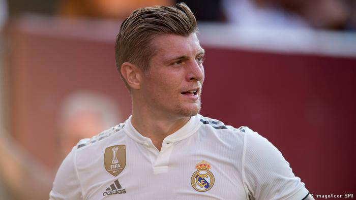Sport Bilder des Tages LANDOVER MD AUGUST 04 Real Madrid Midfielder Toni Kroos 8 looks on befo (imago/Icon SMI)