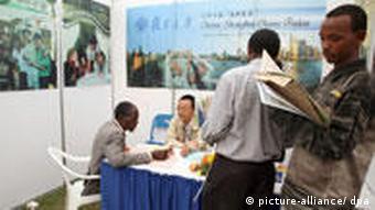 Kenyan students at a China Education Exhibtion in Nairobi