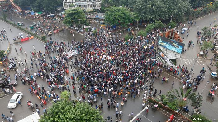 Bangladesch Studenten Proteste in Dhaka