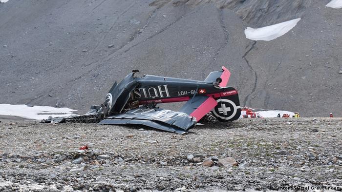 Schweiz | Absturzstelle der JU-52 (Kantonspolizei Graubünden)