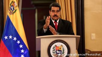 Venezuela | Explosion während Rede Maduros (picture-alliance/Photoshot)