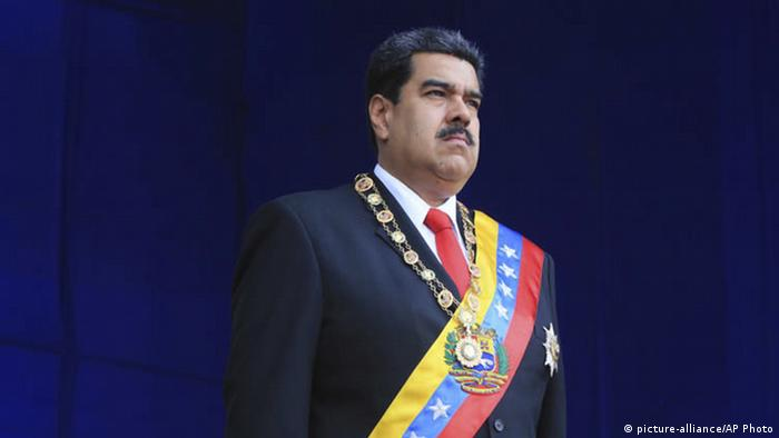 Venezuelas Präsident Nicolas Maduro ist international zunehmend isoliert (picture-alliance/AP Photo)