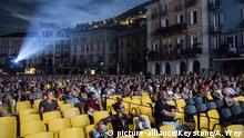 General view of the Piazza Grande Square during the 71st Locarno International Film Festival, Thursday, August 2, 2018, in Locarno, Switzerland. The Festival del film Locarno runs from 1 to 11 August. (KEYSTONE/Alexandra Wey)  