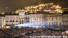 General view of the Piazza Grande square during the 71st Locarno International Film Festival, Saturday, August 4, 2018, in Locarno, Switzerland. The Festival del film Locarno runs from 1 to 11 August. (KEYSTONE/Alexandra Wey) |