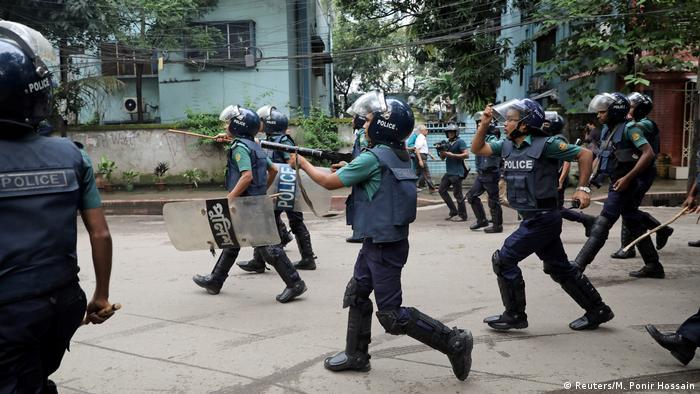 Bangladesch Schüler-Protest (Reuters/M. Ponir Hossain)