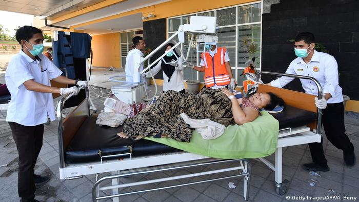 Indonesien nach dem Erdbeben auf Lombok (Getty Images/AFP/A. Berry)