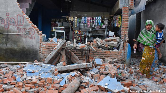 Indonesien nach dem Erdbeben auf Lombok (Reuters/Antara Foto/A. Subaidi)