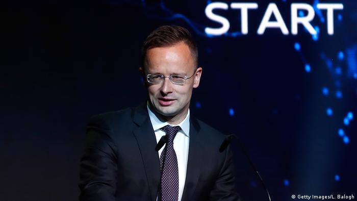 Ungarn Audi eröffnet E-Motor Produktion - Peter Szijjarto (Getty Images/L. Balogh)