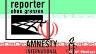 ترازنامه منفی دولت ایران در گزارشهای سازمان عفوبینالملل و گزارشگران بدون مرز