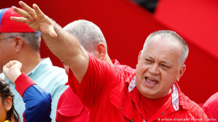 Venezuela Diosdado Cabello in Caracas (picture-alliance/AP Photo/A. Cubillos)