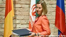 Österreich Federica Mogherini in Wien