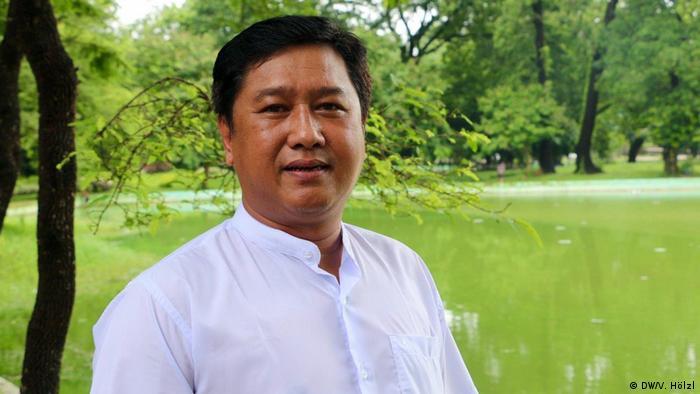 Myanmar Yangon - Bürger Myanmar äußern sich zum Stichtag 8.8.2018 zur Demokratie: Ko Jimmy (DW/V. Hölzl)
