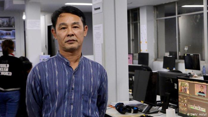 Myanmar Yangon - Bürger Myanmar äußern sich zum Stichtag 8.8.2018 zur Demokratie: Aye Naing (DW/V. Hölzl)
