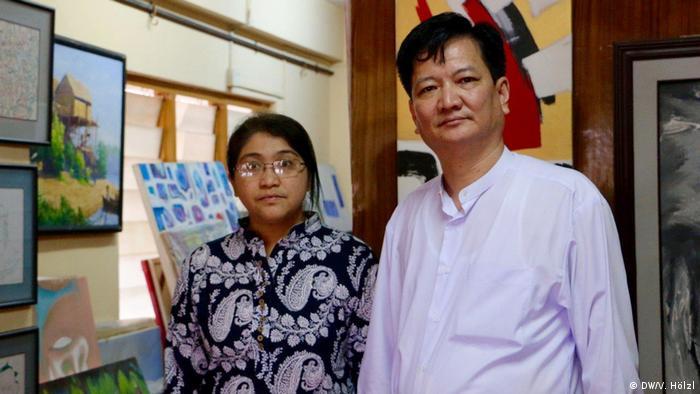 Myanmar Yangon - Bürger Myanmar äußern sich zum Stichtag 8.8.2018 zur Demokratie: U Bo Bo (DW/V. Hölzl)