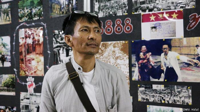Myanmar Yangon - Bürger Myanmar äußern sich zum Stichtag 8.8.2018 zur Demokratie: Win Myint Naing (DW/V. Hölzl)