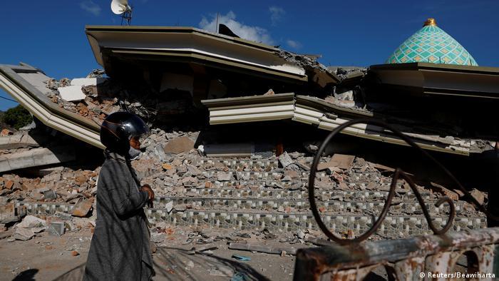 Indonesien Zerstörung Erdbeben Lombok (Reuters/Beawiharta)