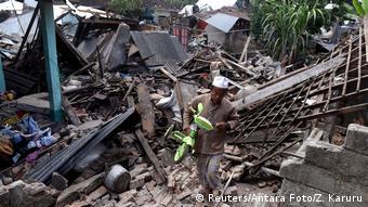 Indonesien Zerstörung Erdbeben Lombok (Reuters/Antara Foto/Z. Karuru)