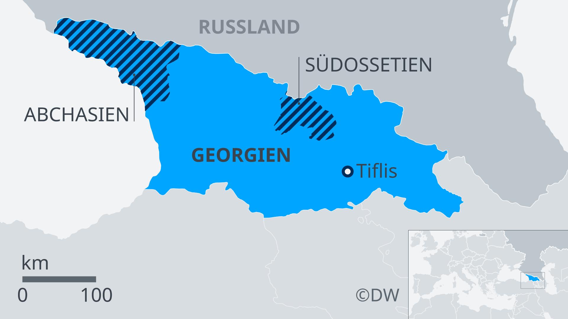 Karte Georgien Südossetien DE
