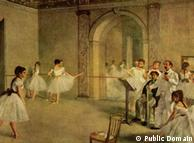 Edgar Germain Hilaire Degas - Sala de ballet de la Ópera de la Rue Peletier, óleo sobre tela.