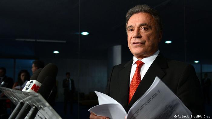 Brasilien, Brasilia: Bild von Senator und Präsidentschaftskandidat Alvaro Dias (Agência Brasil/A. Cruz)