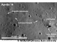 Photographic evidence of previous moon missions sent by LROC camera
