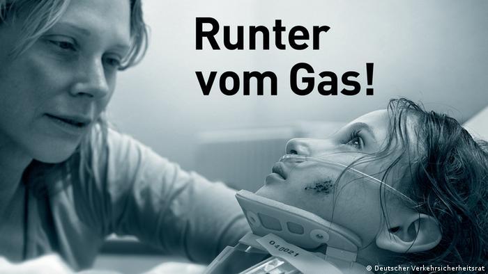Шокова реклама проти перевищення швидкості вздовж німецьких автобанів