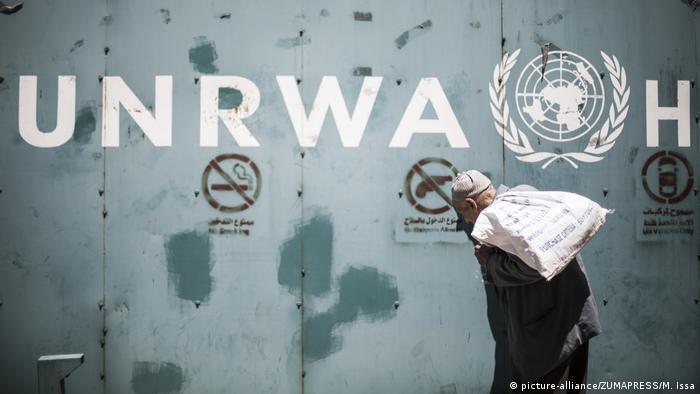 صورة لشعار الأونروا في غزة (يوليو/ تموز 2018)