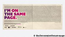 Buchmesse, Kampagne, on the same page (Buchmesse/onthesamepage)