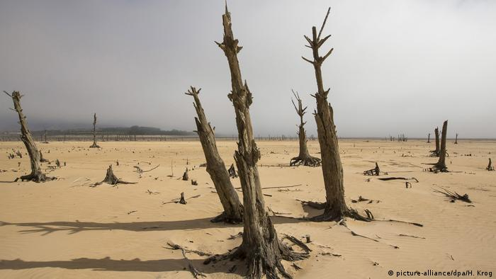 Dry water reservoir near Cape Town, South Africa (picture-alliance/dpa/H. Krog)